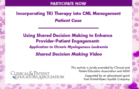 Using Shared Decision Making to Enhance Provider-Patient Engagement: Application to Chronic Myelogenous Leukemia