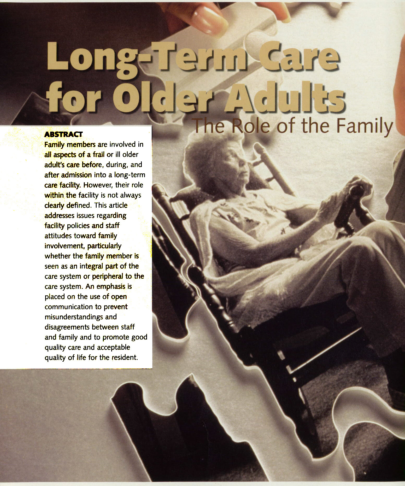 long term care research papers Find national and state-based research surveys and reports on the needs, interests and trends that concern older and midlife american adults.